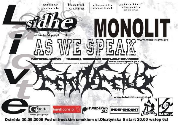 2006.09.30 FETO IN FETUS /AS WE SPEAK /MONOLIT /SIDHE