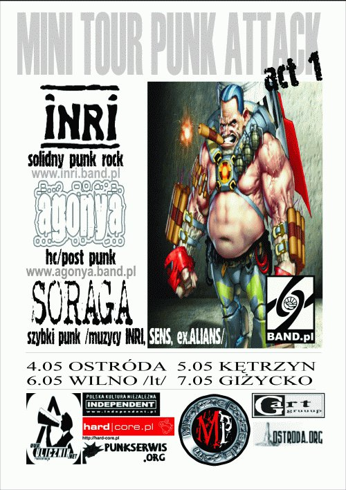 MINI TOUR PUNK ATTACK INRI /AGONYA /SORAGA
