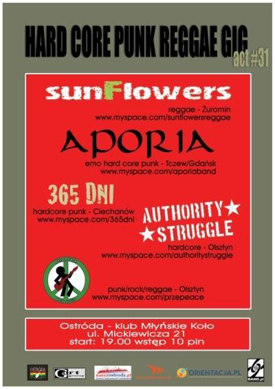 2009.10.24 SUNFLOWERS / APORIA / 365DNI / AUTHORITY STRUGGLE / PRZEPEACE