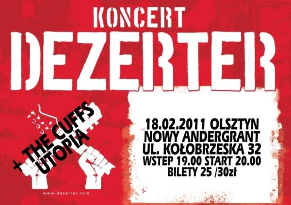 2011.02.18 DEZERTER / THE CUFFS / UTOPIA